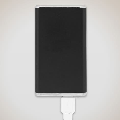 Slim Aluminum Power Bank - Black