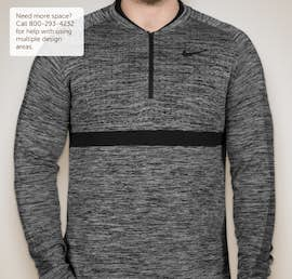 Limited Edition Nike Performance Half Zip Pullover - Color: Wolf Grey / Black