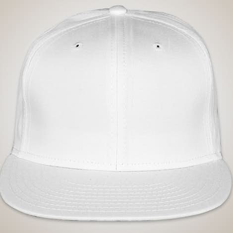 New Era Flat Bill Snapback Hat - White