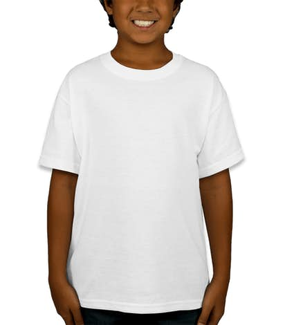 Canada - Gildan Youth 50/50 T-shirt - White