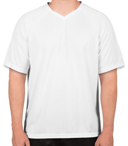 Augusta Striker Performance Soccer Jersey - White / White