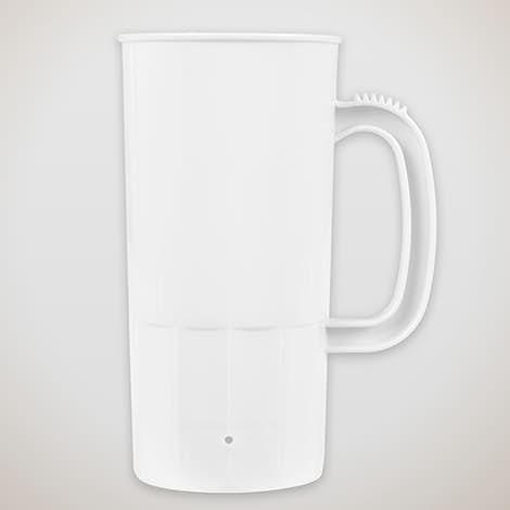 22 oz. Plastic Beverage Mug - White
