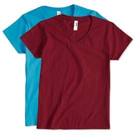 Anvil Ladies Jersey V-Neck T-shirt