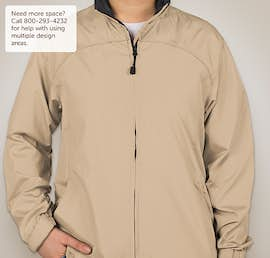 North End Ladies Full Zip Hooded Jacket - Color: Putty