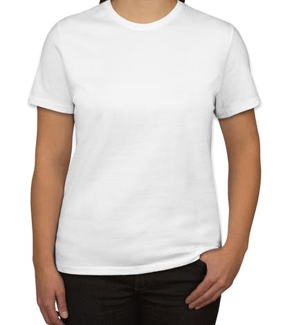 custom port and company ladies 100 cotton t shirt