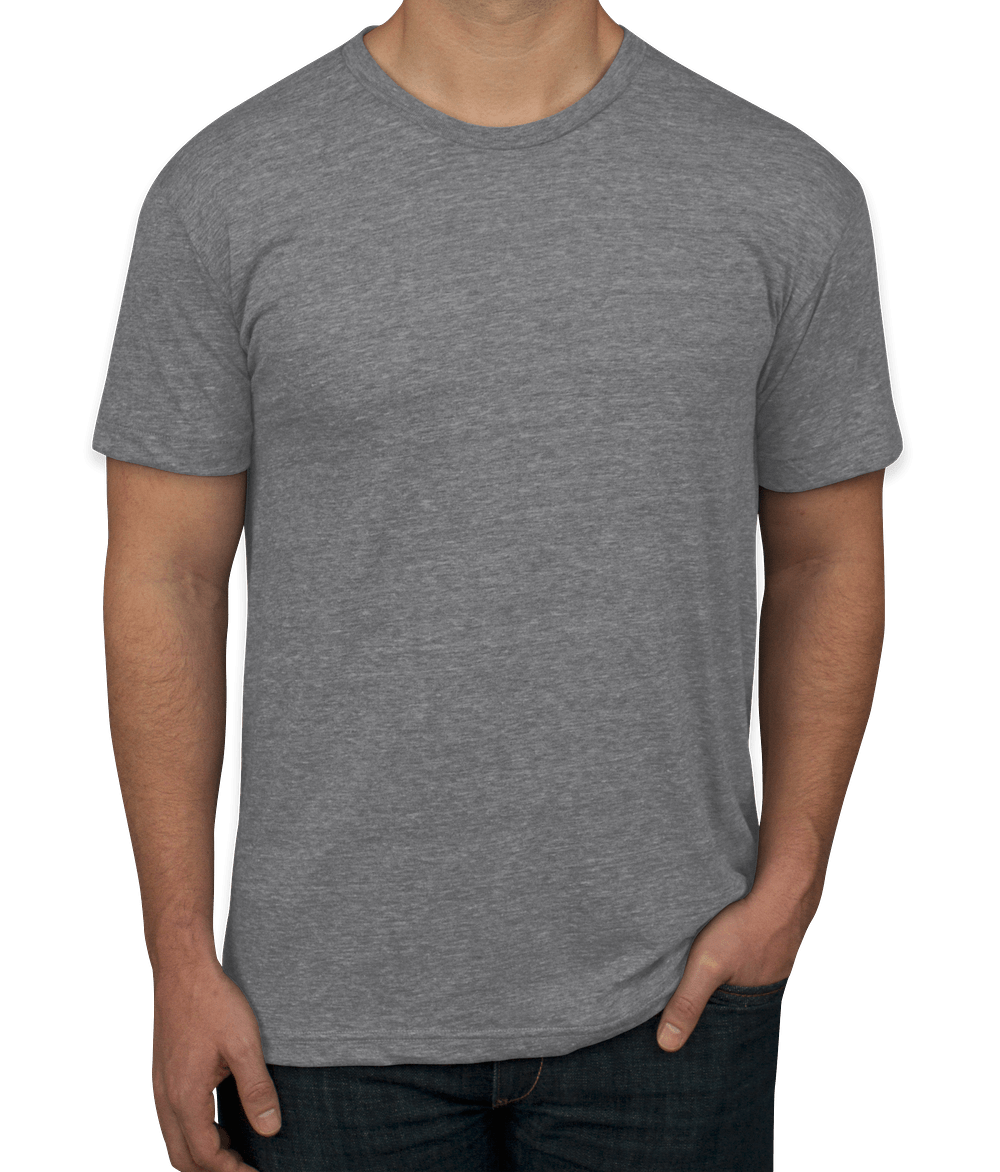 Custom American Apparel Usa Made Tri Blend T Shirt