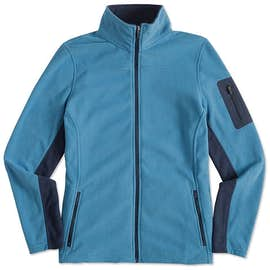 Port Authority Ladies Colorblock Full Zip Microfleece Jacket