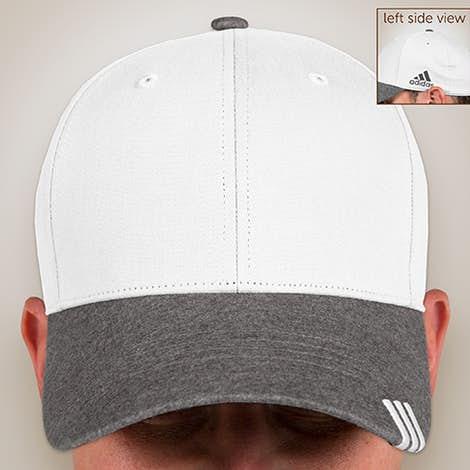 Adidas Contrast Heather Hat - White / Dark Grey Heather