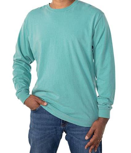 Custom Comfort Colors 100% Cotton Long Sleeve Shirt - Design Long ...