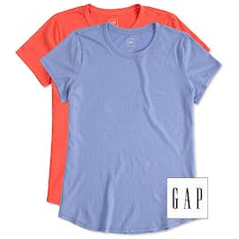 GAP Ladies Vintage Wash Crewneck Tee