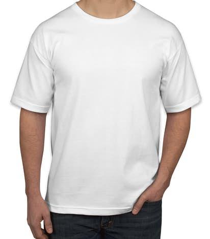 Bayside 100% Cotton USA T-shirt - White