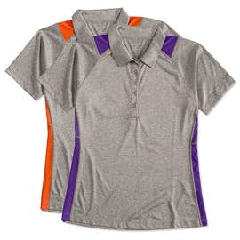Sport-Tek Ladies Contrast Performance Polo