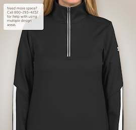 Under Armour Ladies Qualifier Performance Quarter Zip - Color: Black / White