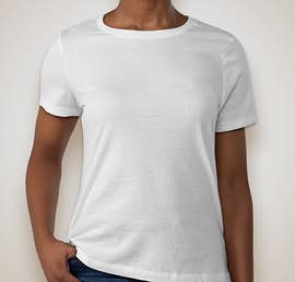 Bella Ladies Jersey T-shirt - Color: White