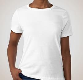 Bella + Canvas Ladies Jersey T-shirt - Color: White