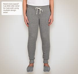 Alternative Apparel Juniors Jogger Sweatpants - Color: Eco Grey