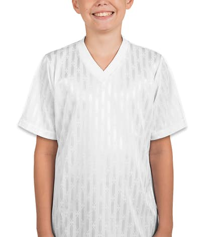 Teamwork Youth Cascade Soccer Jersey - White / White / White
