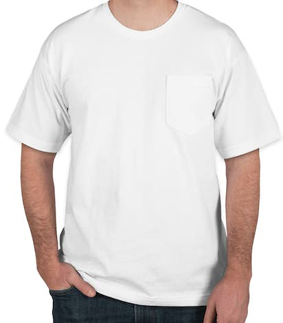 Bayside 100% Cotton USA Pocket T-shirt - White