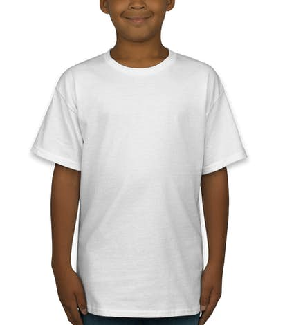 Hanes Youth ComfortSoft® Tagless T-shirt - White