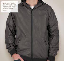 Sport-Tek Embossed Full Zip Hooded Jacket - Color: Graphite / Black