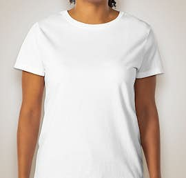 Hanes Ladies 100% Cotton T-shirt - Color: White