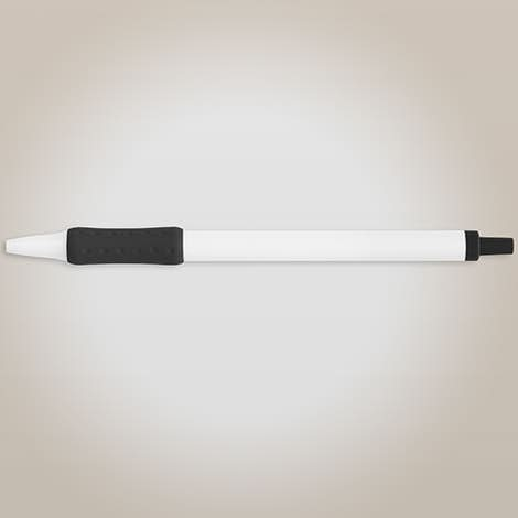 BIC Clic Stic Grip Pen (blue ink) - White / Black