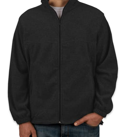 Custom Harriton Full-Zip Fleece Jacket - Design Fleece Jackets ...