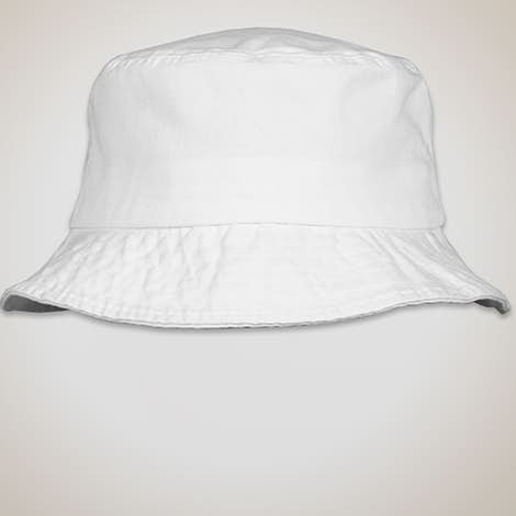 Sportsman Bio-Washed Bucket Hat - White