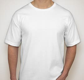 Bayside 100% Cotton USA T-shirt - Color: White