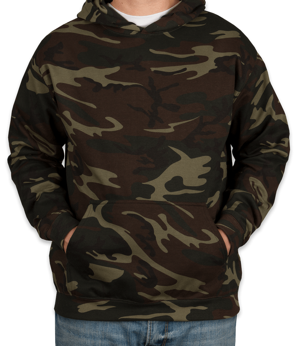 Custom Code 5 Camo Pullover Hoodie - Design Hoodies Online at ...