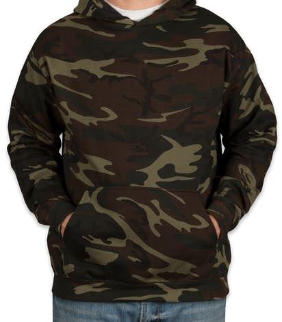 Code 5 Camo Pullover Hoodie - Green Woodland