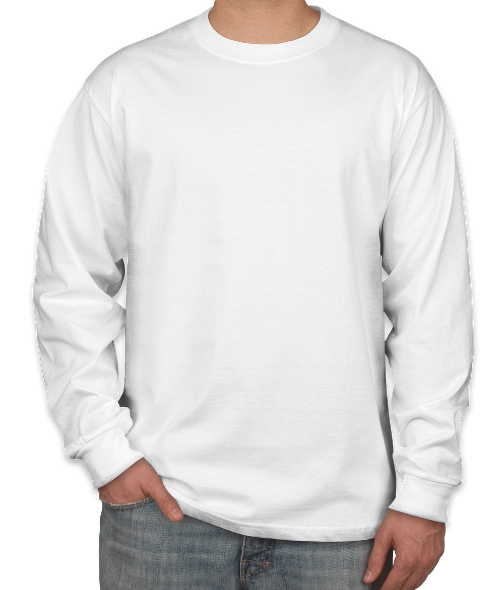 Design Custom Printed Hanes Beefy-T Long-Sleeve T-Shirts Online at ...