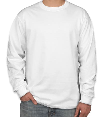 Hanes Beefy-T Long Sleeve - White