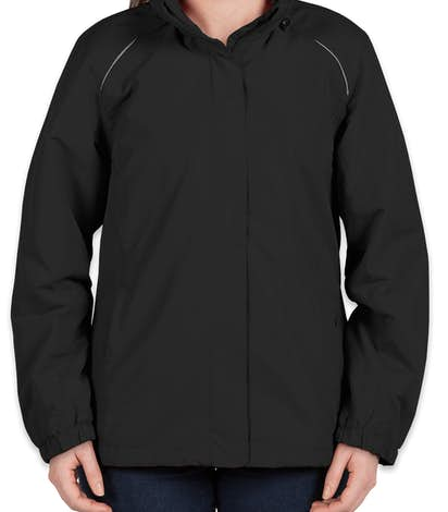 Core 365 Ladies Fleece Lined All-Season Jacket - Black