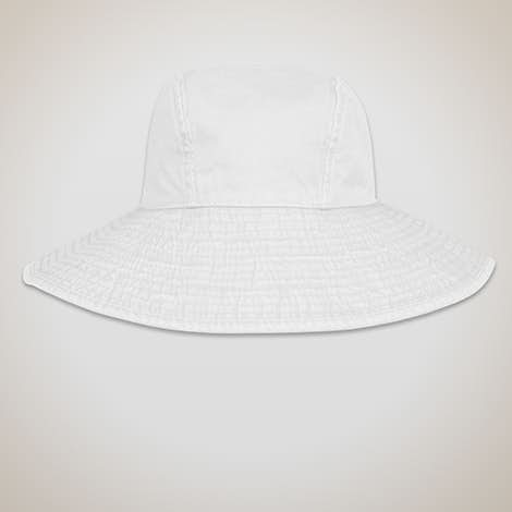 Adams Ladies Pigment Dyed Wide Brim Hat - White