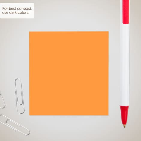 "Neon - 3M Post-it® Note- 2.75"" x 3"" - 50 sheets/pad - Neon Orange"
