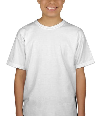 Gildan Youth 100% Cotton T-shirt - White
