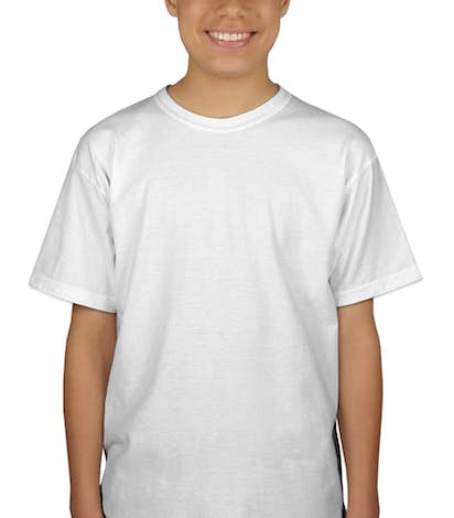 Canada - Gildan Youth 100% Cotton T-shirt - White