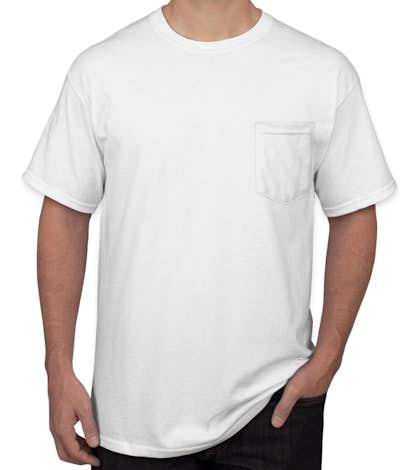 Design Custom Printed Gildan Ultra Cotton Pocket T-Shirts Online ...