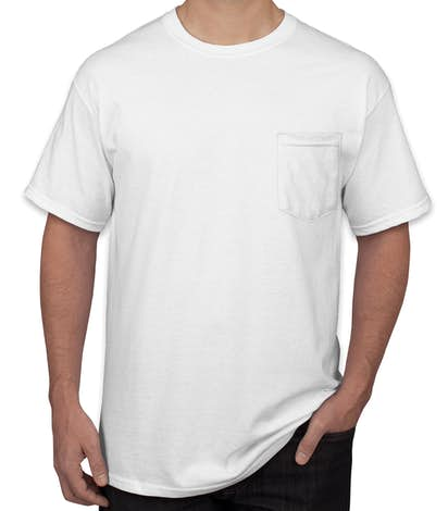 Design Custom Printed Gildan Ultra Cotton Pocket TShirts Online At - Pocket t shirt template