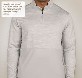 Augusta Tonal Heather Quarter Zip Performance Shirt - Color: Silver