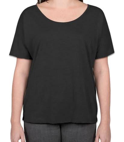 Bella Ladies Tri-Blend Flowy T-shirt - Charcoal Black Tri-Blend