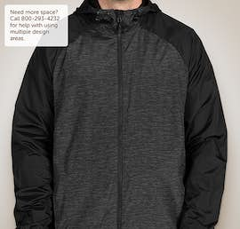 Sport-Tek Heather Raglan Hooded Full Zip Jacket - Color: Black Heather / Black