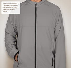 Team 365 Hybrid Microfleece Full Zip Jacket - Color: Sport Graphite
