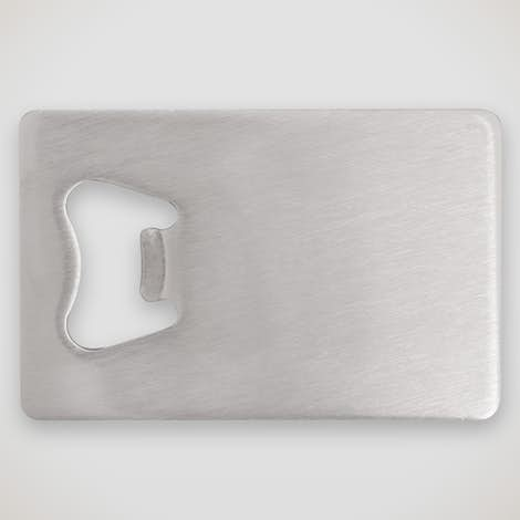 Stainless Steel Credit Card Size Bottle Opener - Silver