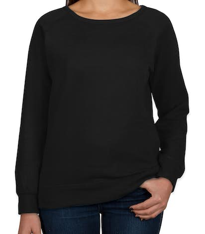 Independent Trading Juniors Lightweight Crewneck Sweatshirt - Black
