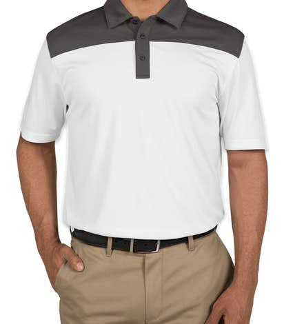 Clique by Cutter & Buck Colorblock Performance Polo - White / C Titan