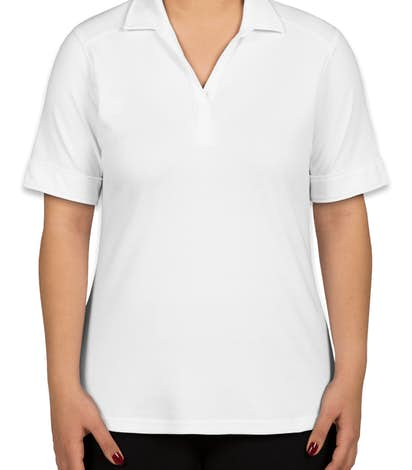 Port Authority Ladies Silk Touch Interlock Jersey Polo - White