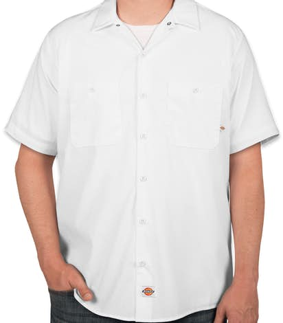 Dickies Lightweight Industrial Work Shirt - White