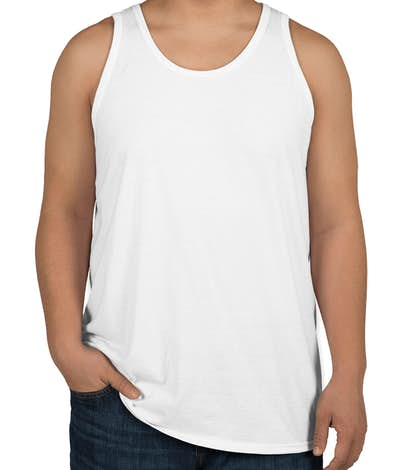 Design your own custom tank top in Canada for your event, group or party. Choose from s of clip arts and designs we have or create your own. Enjoy the fast free shipping to your door in Canada with a standard 10 to 12 business day turn around time.